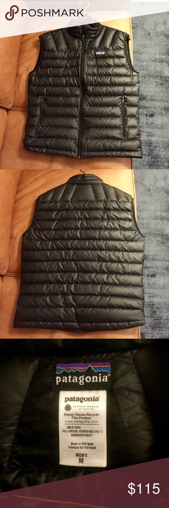 """Men's M Black """"Patagonia Down Sweater Vest"""" Men's M black """"Patagonia Down Sweater Vest"""" - still in stores. Perfect shape and very warm! OFFERS ARE ACCEPTED! Patagonia Jackets & Coats Vests"""