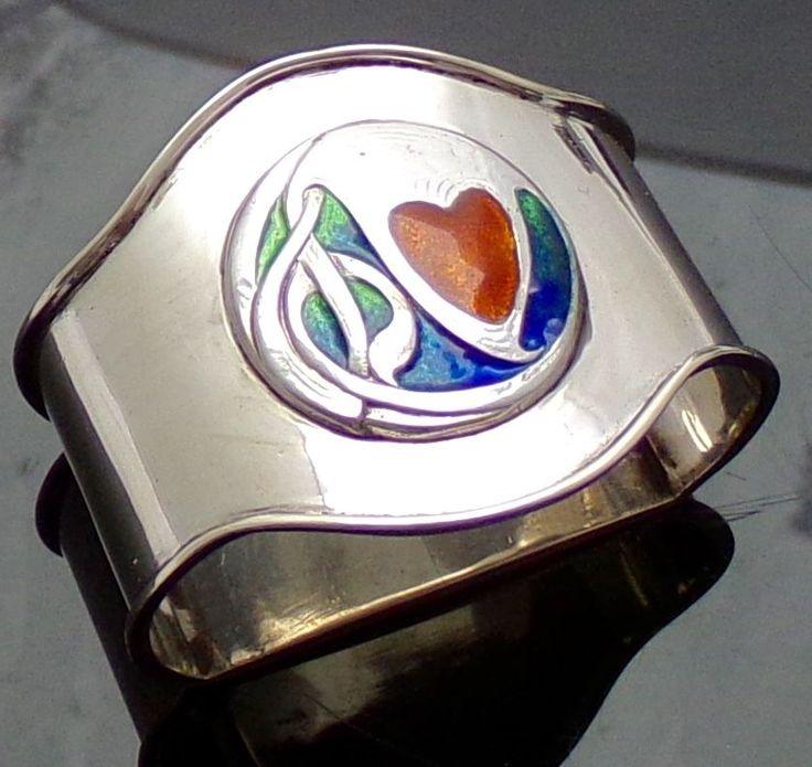 very rare liberty & co cymric silver & enamel napkin ring archibald knox 1905 | eBay