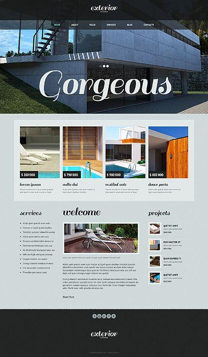 Exterior Design Joomla Templates by Cowboy