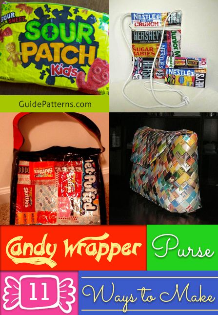 Candy Wrapper Purse: 11 Ways to Make | Guide Patterns