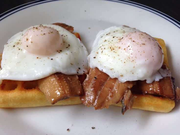 Poached eggs & smoked kippers for breakfast.