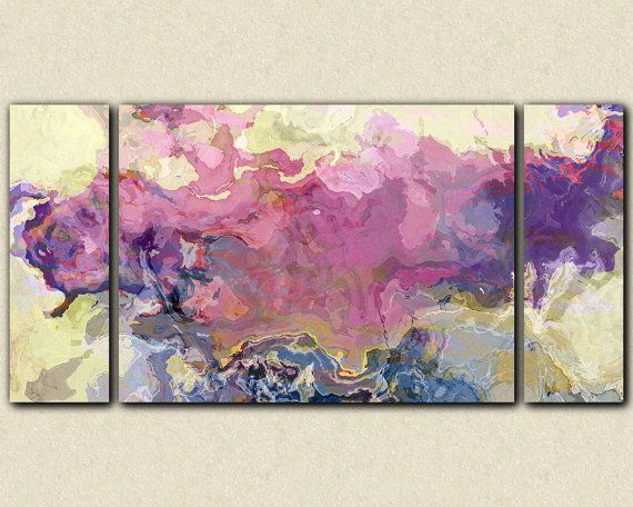 Abstract expressionism large triptych canvas by FinnellFineArt, $375.00