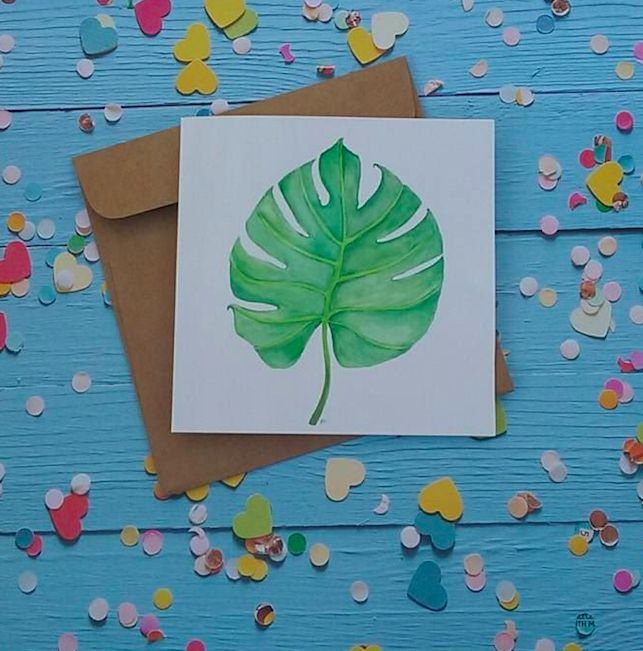 Tropical Leaf – Card | Relove SA