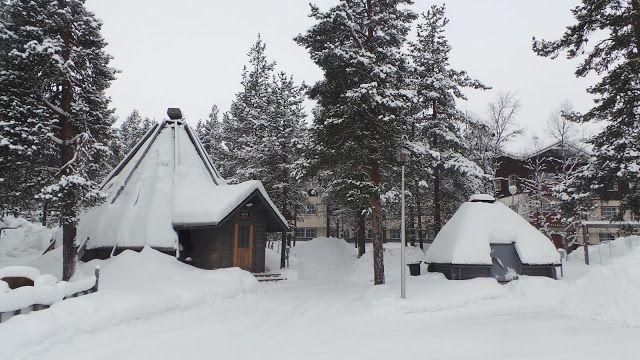 Auroras Boreales en Saariselka Laponia Finlandesa : Saariselka Laponia Finlandesa Centro de informació...