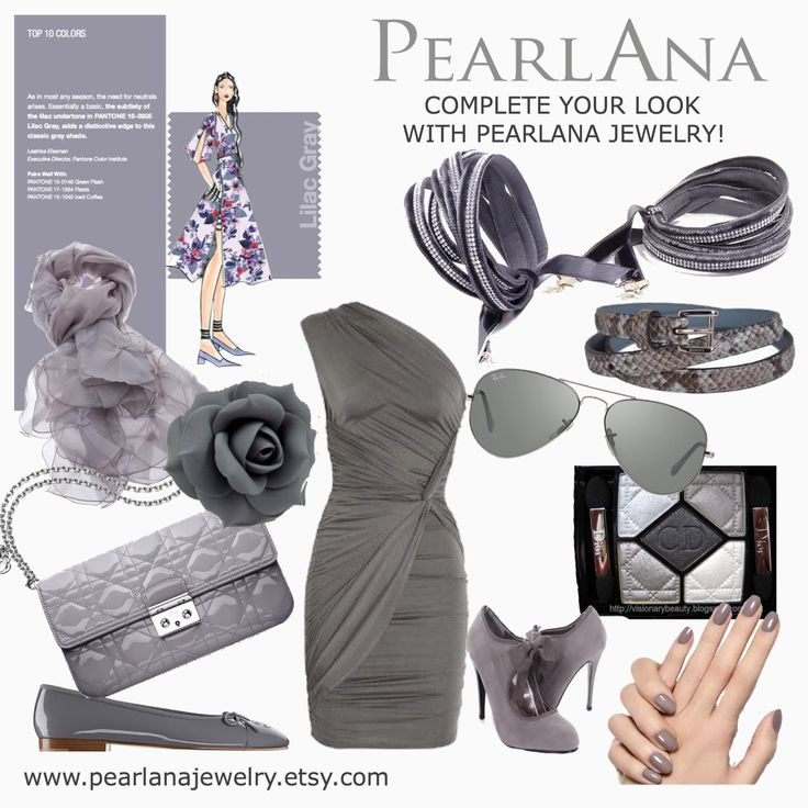 Pantone 2016. spring-summer color trend: lilac gray. We have it! Be trendy! www.pearlanajewelry.etsy.com