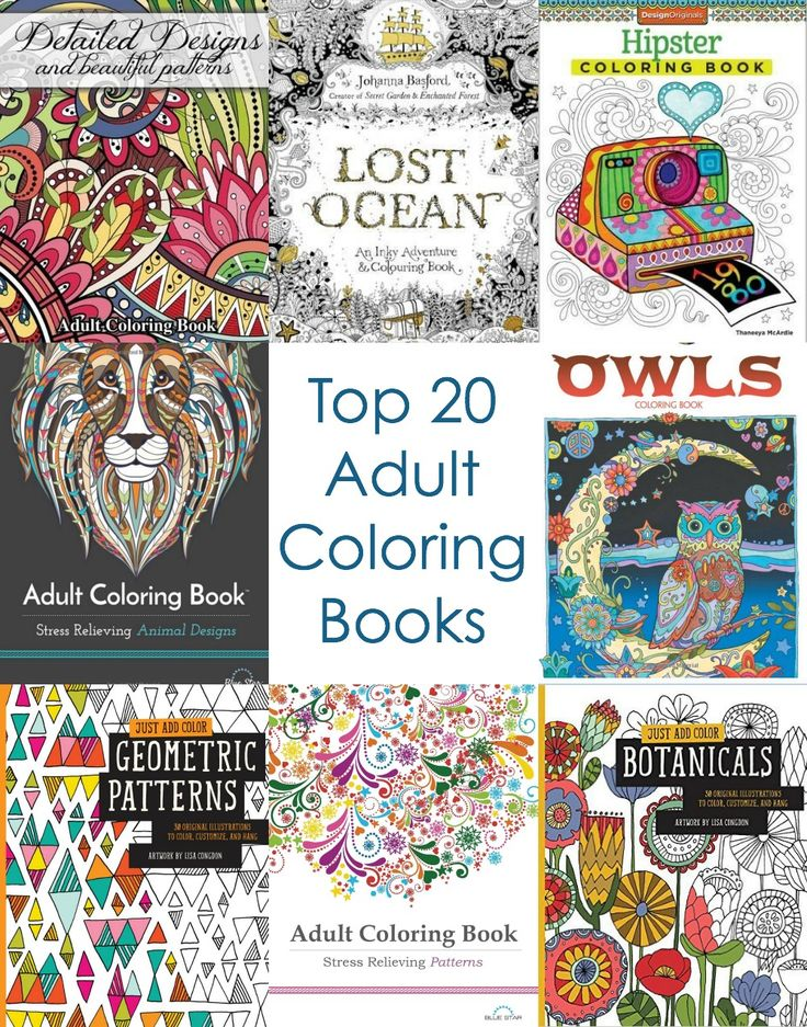 Top 20 Adult Coloring Books                                                                                                                                                                                 More