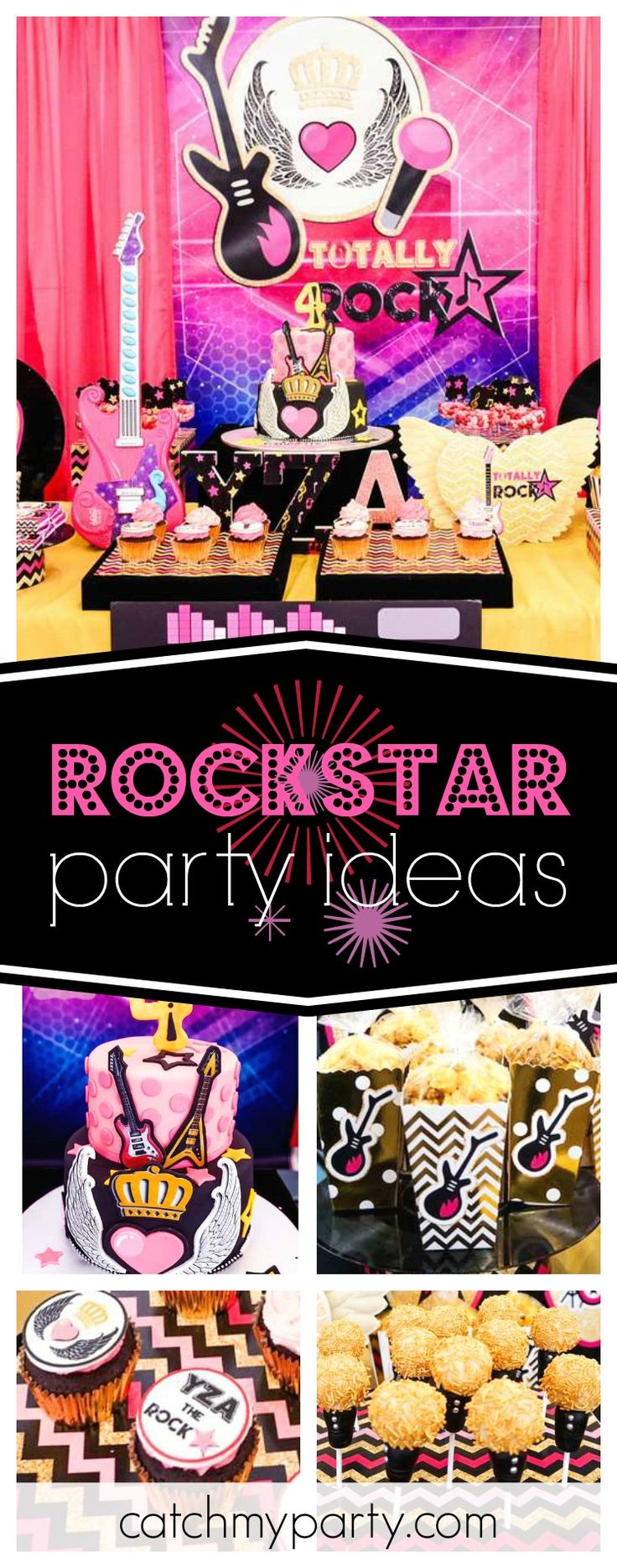 How To Throw The Ultimate Pop Star Party Ideas Activities Amp Free - Take a a look at this epic totally rockstar birthday party love the microphone cake pops