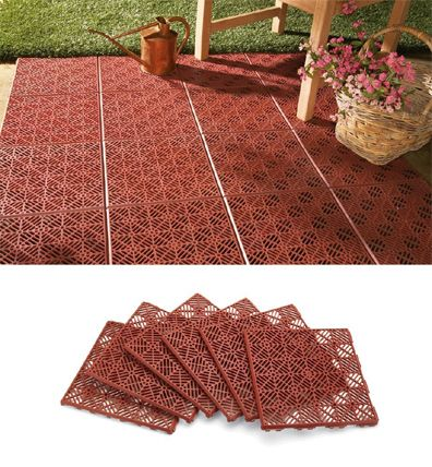 Patio tiles - can also be used for campground showers to keep off of the always wet floor.