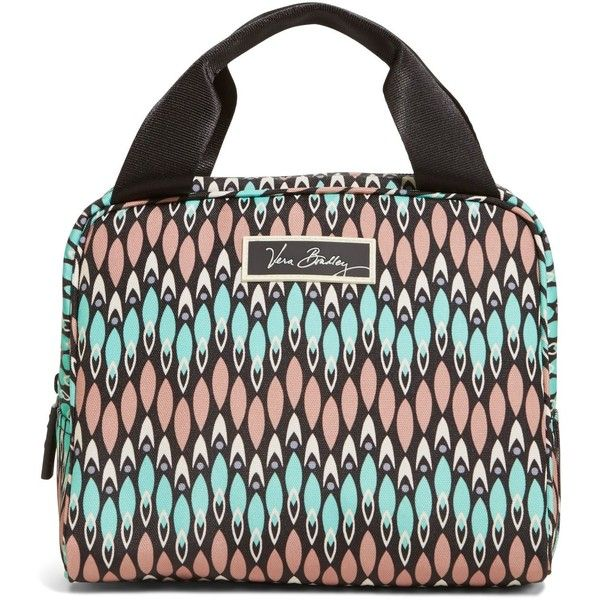 Vera Bradley Lighten Up Lunch Cooler Bag in Sierra Stream ($34) ❤ liked on Polyvore featuring home, kitchen & dining, food storage containers, accessories, lunch bags, sierra stream, vera bradley, lunch cooler, vera bradley lunch sack and vera bradley bags