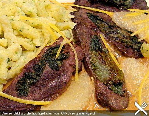 Salbei - Rehschnitzel in Gin - Rahmsauce (Rezept mit Bild) | Chefkoch.de