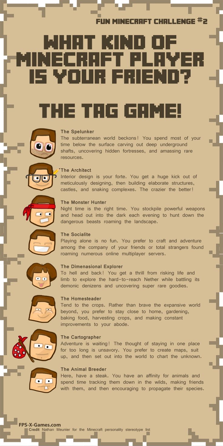 Social tag game, minecraft player stereotype #minecraft #funminecraftchallenge