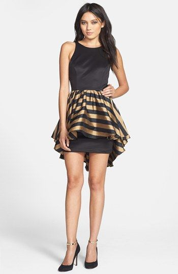 Alexia Admor High/Low Peplum Ponte Sheath Dress available at #Nordstrom