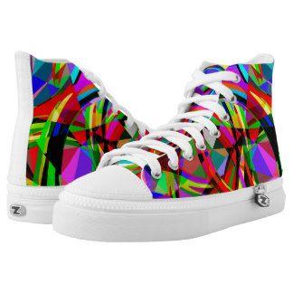 Geometric pattern #4 printed shoes