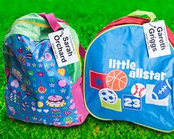 Awesome bag-tags! Order your personalised bag-tag http://labels4school.co.uk/order-your-labels-online