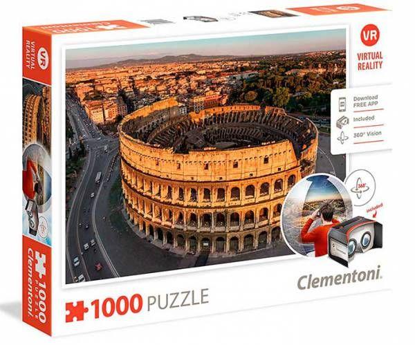 ¡LO MÁS NUEVO EN PUZZLES! Visita el Coliseo con visión 360 grados después de montar el rompecabezas.    Puzzle CLEMENTONI: Puzzle de 1000 piezas ( Ref: 0000039403 ) en Puzzlemania.net
