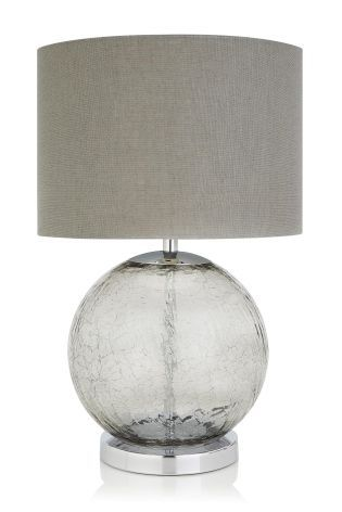 Smoke Crackle Table Lamp
