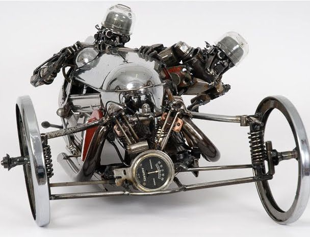 Cool Sculptures - From Scrap Car Parts | Cool Pictures | Cool Stuff