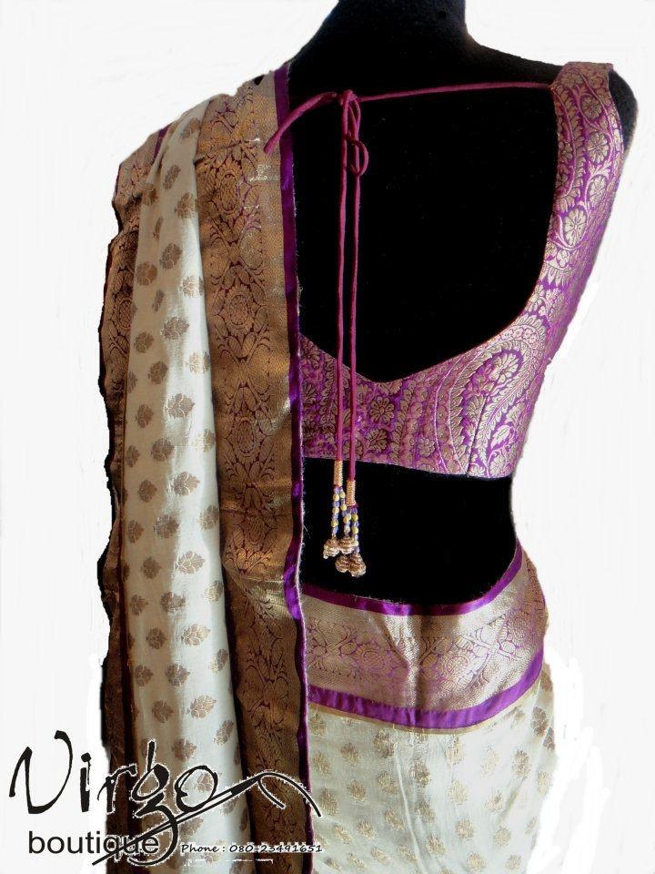 An old kanjivaram saree is given a given a modern twist