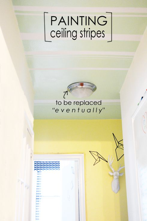 Painting ceiling stripes (YEP, even a ceiling isn't a boring space around a decorator)