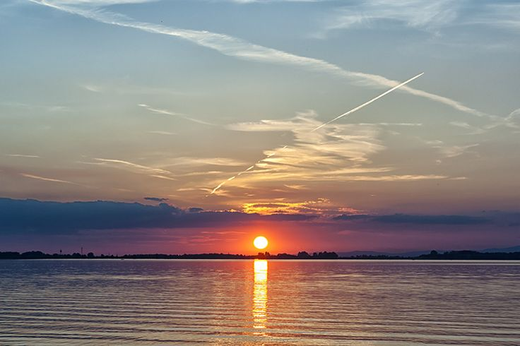 Sunset at Lake Tisza