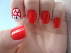 Mario Bros. (ok, I'd probably never do that on my nail, but its so cute!!)