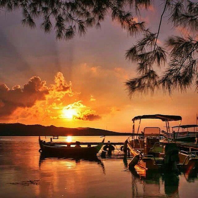 "Beautyful sun set ""karimun java"" #Central Java #Indonesia , photo by golden_heart"