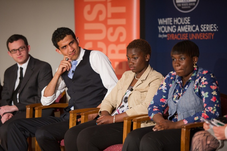 White House Young America Series: Live from Syracuse University (4/18/2012)  http://syr.edu/whitehouse