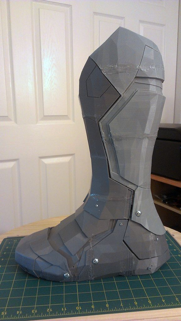 """3D Print a functional armored boot - So eventually like the new """"Lost in Space"""" you'll print your apparel on demand to accommodate the conditions you're in."""