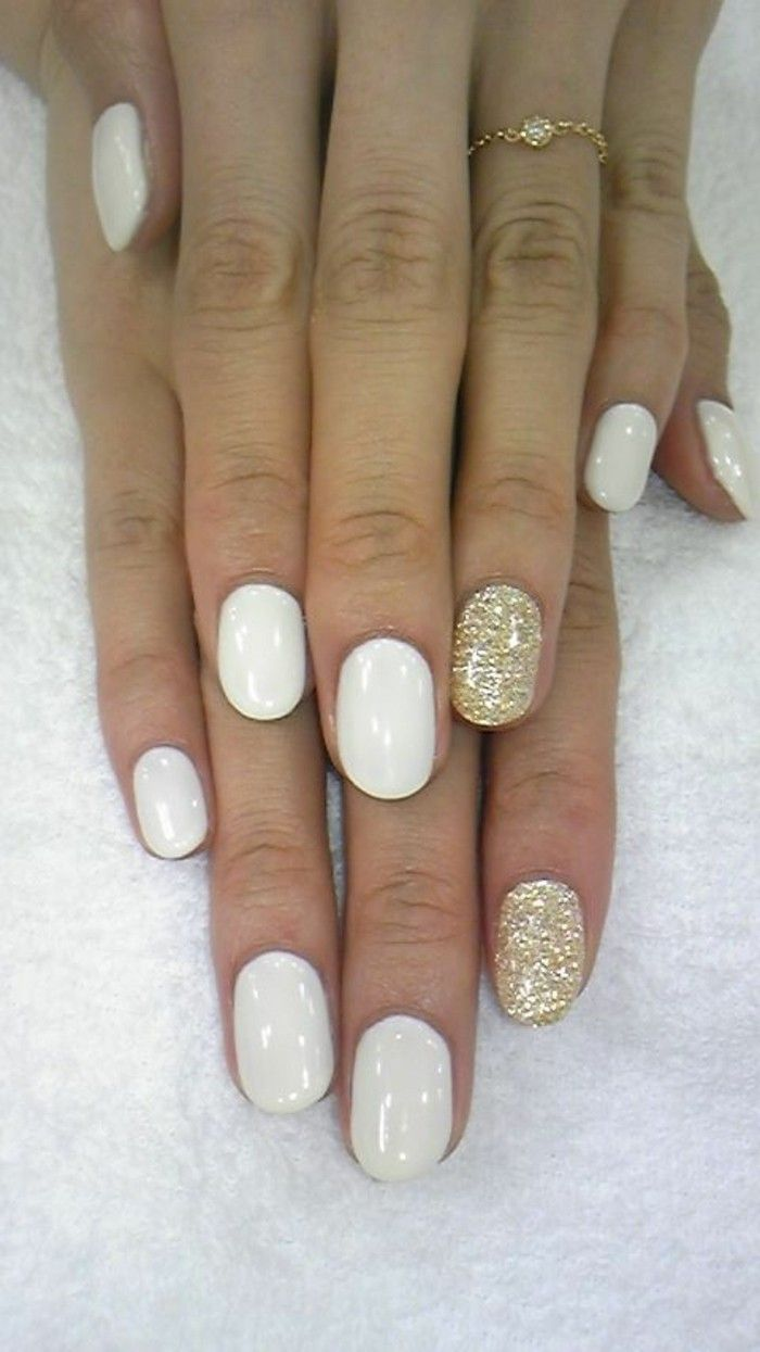 ongles décorés deco ongle gel blanc