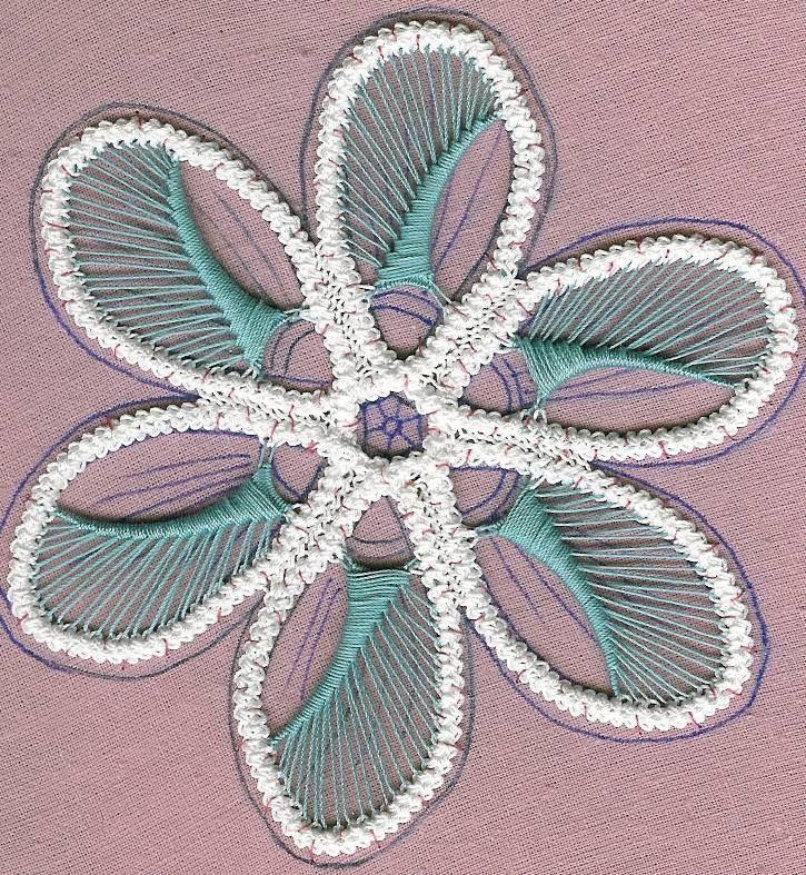 Заполнение элементов цветочного мотива
