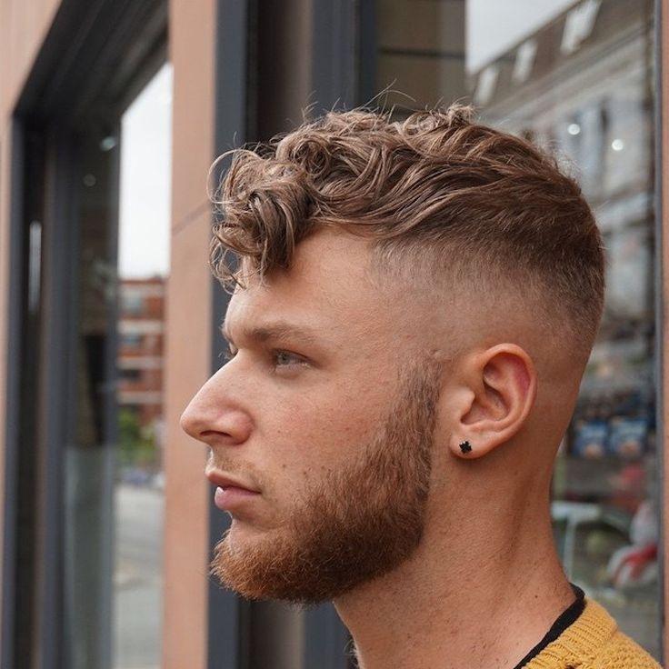 Medium Length Haircut Mid Fade