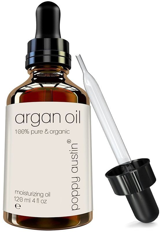 Pure Organic Argan Oil for Hair and Skin by Poppy Austin, 4 Fluid Ounce ** Special  product just for you. See it now! : Travel Hair care
