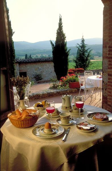 Breakfast in Tuscany And this is how we do it.  Italian style Breakfast  always remember eat slow, and give thanks, and enjoy your time in the morning .......Ciao