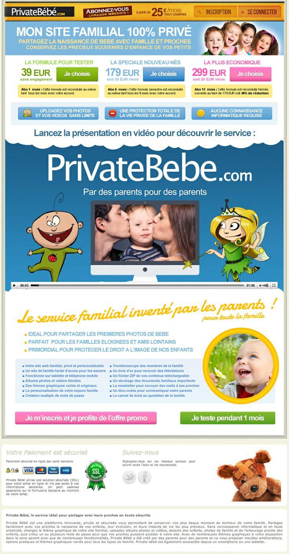 Tour de PrivateBebe.com pour découvrir le service en vidéo et les formules d'abonnement proposées.