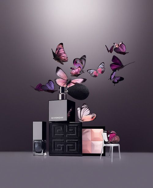A beautiful lifestyle shot from Givenchy of the new limited edition Contes de Noël Christmas make-up collection.