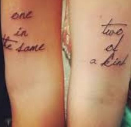 One in the same two of a kind ink pinterest the o 39 jays for One of a kind tattoos