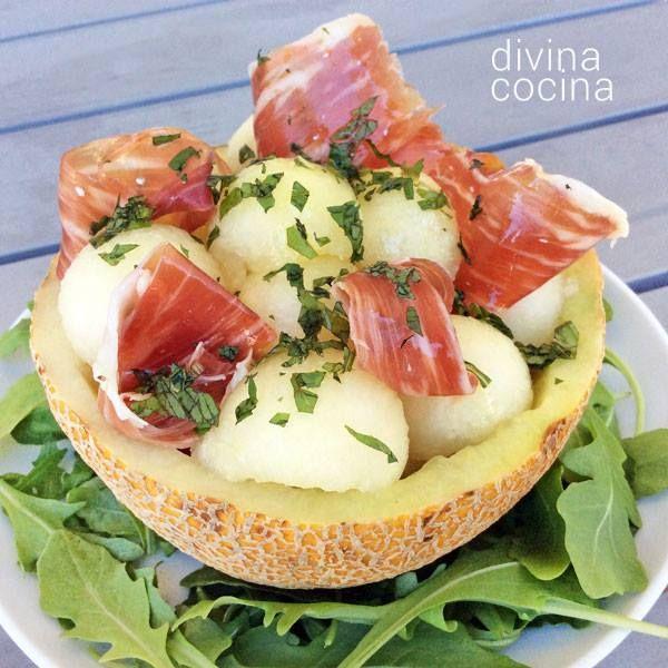 Ensalada de melón con jamón < Divina Cocina