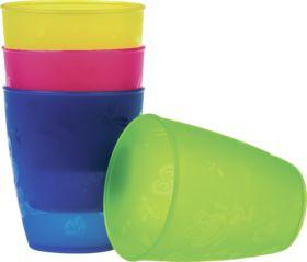 Die Trinkbecher sind Bisphenol A-frei und eigenen sich für Kinder ab dem 18. Monat. Sie bestehen aus bruchsicherem und leichtem Kunststoff (PP) und sind...