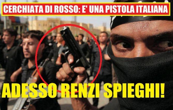 SCONVOLGENTE INCHIESTA SULLA VENDITA DI ARMI ITALIANE IN GIRO PER IL MONDO, MA SOPRATUTTO A STATI CHE ''AIUTANO'' L'ISIS.