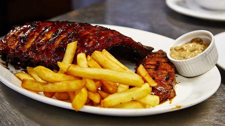 Steak and Ribs Combo Hurricane's Grill Bondi Beach