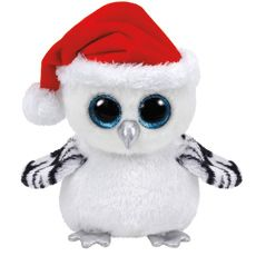 TY Beanie Boo Large Tinsel the Snow Owl Soft Toy