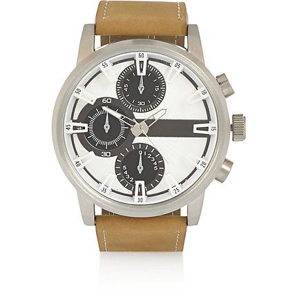 Ecru three dial oversized watch £32.00