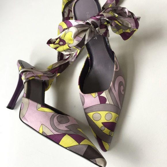 EUC Nine West Heels Excellent used condition Nine West Heels with wrap around ankle bow accent. Size: 9. Nine West Shoes