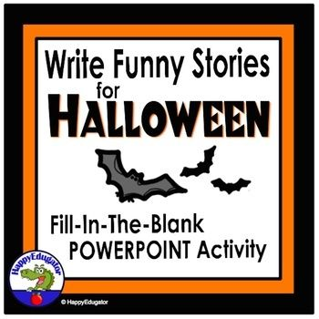 Halloween Vocabulary Activity - Parts of Speech Funny Fill In