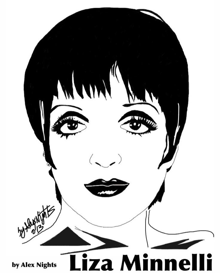 ★ Liza Minnelli ★ (Sketch on iPad) by Alex Nights (c) 2013