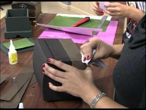 Mini Baú com papel textura - Passo a Passo 01/02