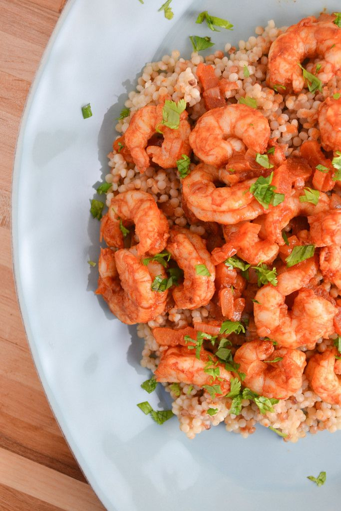 Mediterranean Spiced Shrimp & Couscous | Things I Made Today