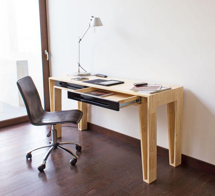 escritorio e20 madera cajones lacado lateral