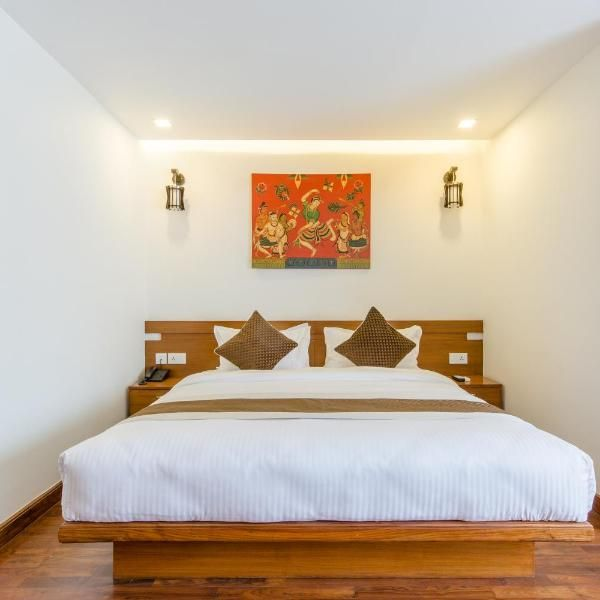 Small Single Bed And Window To View Inner Space Courtyard Patan