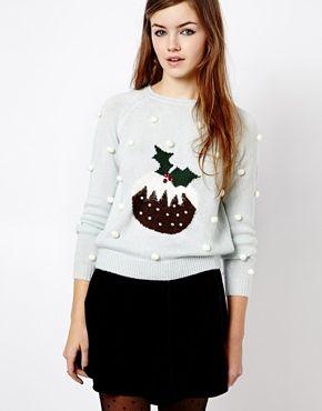 Asos, New Look Christmas Pudding Jumper - $49.80